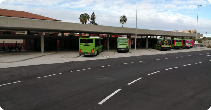 Neue Busstation in Puerto de la Cruz